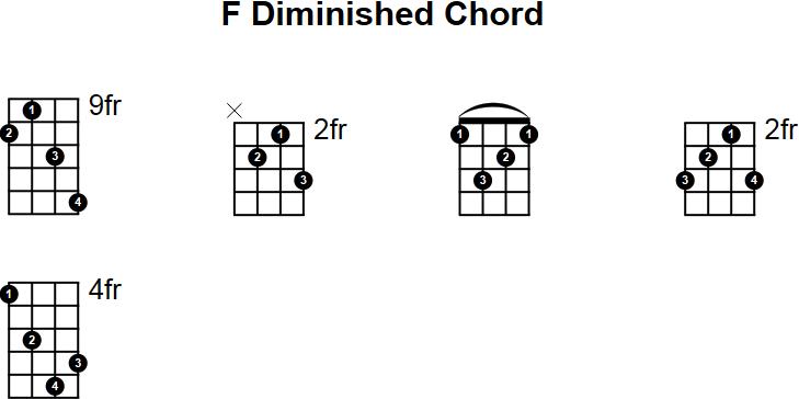 F Diminished Mandolin Chord